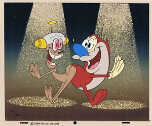 Ren & Stimpy Happy Happy, Joy Joy Limited Edition Artist Proof Cel