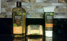 3pc.Hugo Naturals Vanilla & Sweet Orange:Shower Gel, All Over Lotion & Soap Set!