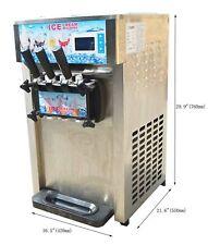 Techtongda 110v Commercial Desktop 3 Flavor Soft Ice Cream Machine