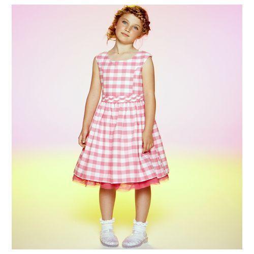 Emma Bunton Pink Woven Dress Holiday//Party size 6-7 Years Free UK P/&P