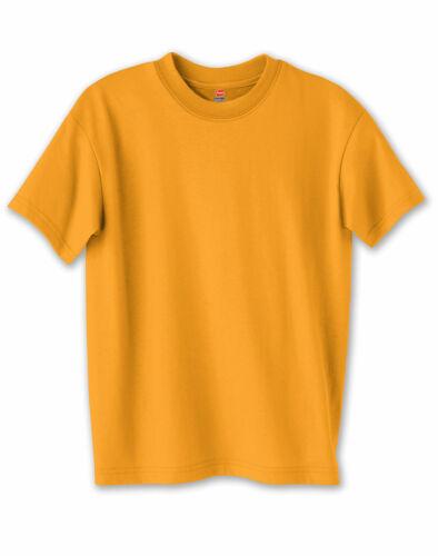 Hanes Kids Girl Boy Crewneck TShirt Tee Youth ComfortBlend EcoSmart Short Sleeve