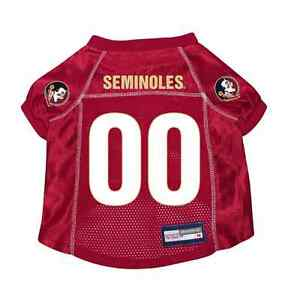 NEW-FLORIDA-STATE-SEMINOLES-PET-DOG-PREMIUM-JERSEY-w-NAME-TAG-ALL-SIZES-LICENSED