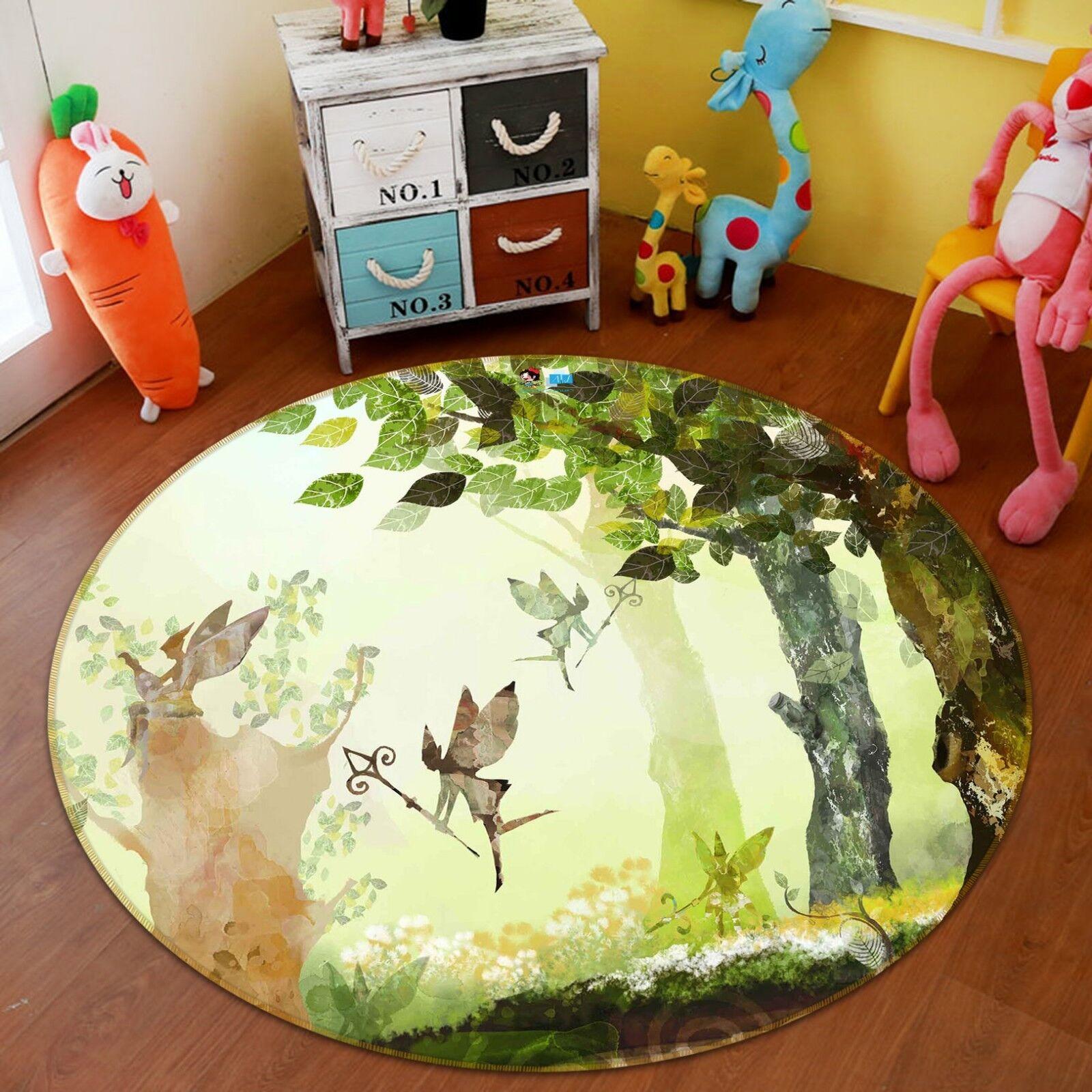 3D Elfe Elfe Elfe Peinture 0102 Étage Antidérapant Natte Rond Élégant Tapis FR Summer | Caracteristique  aad566