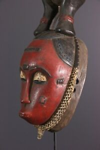 MASQUE-BAOULE-AFRICAN-ART-AFRICAIN-PRIMITIF-ARTE-AFRICANA-AFRIKANISCHE-KUNST