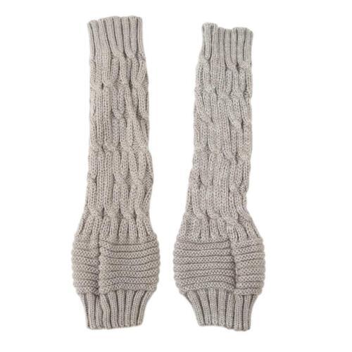 Fashion Ladies Knitted Crochet Long Fingerless Winter Gloves Arm Warmer HO