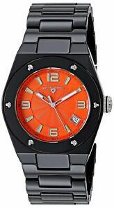 Swiss-Legend-10054-BKOTSA-Noir-Ceramique-Femmes-Montre-Quartz-Cadran-Orange
