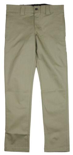 Dickies Men/'s Slim Skinny Stretch Twill Work Pants Khaki Pant 3 Colors
