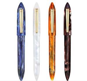 High-end LIY Blue Resin Fountain Pen Extra Fine \ Fine Nib SCHMIDT Converter Pen