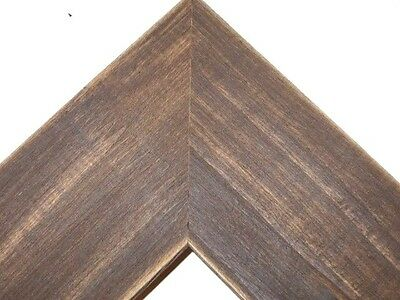 "2.5"" Country Whiskey Brown Rustic Distressed Wood Picture Frame-Standard"