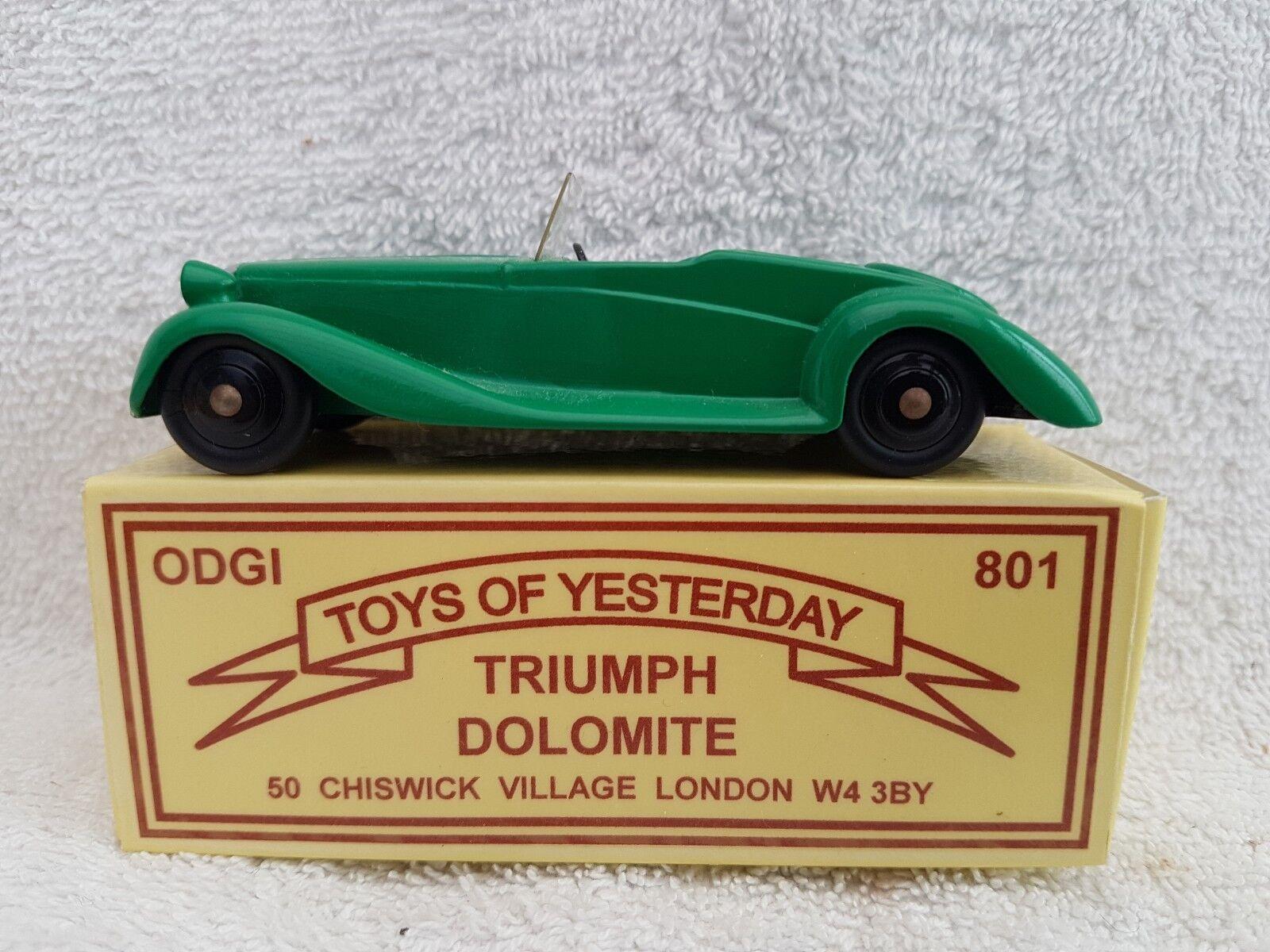 Odgi juguetes de antaño 801 Triumph Dolomite en verde