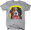 Colorful Golden Retriever Dog Smiling Face Tongue Out Animal Lover T-shirt