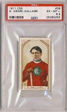 G. HENRI DALLAIRE 1911-12 C55 Imperial Tobacco #39 PSA 6.5 EX-MT + 6 7 CANADIENS