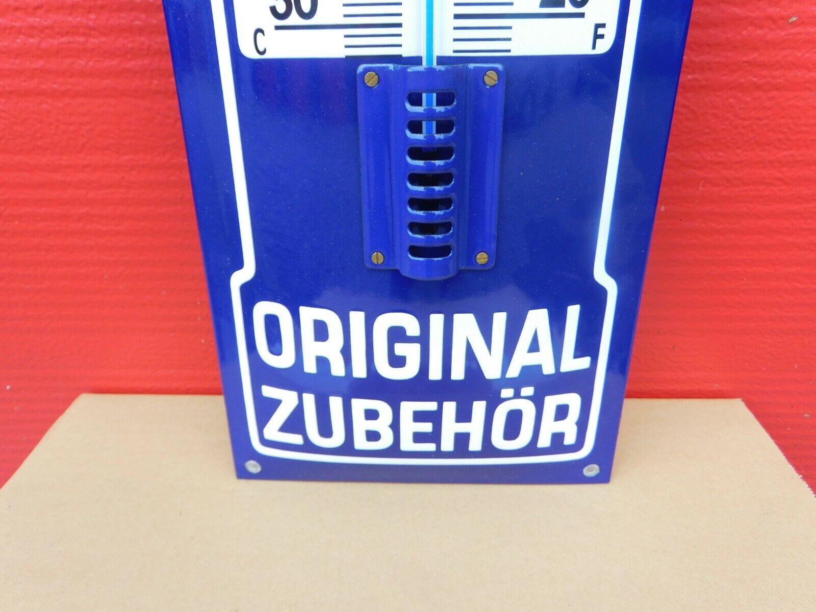 VESPA Scooter - German Original Zubehor Porcelain Enamel Sign with Thermometer