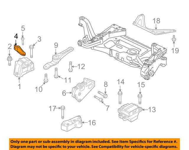 08 Audi TT Mk2 Engine Motor Support Mount Bracket Holder 8J0199588