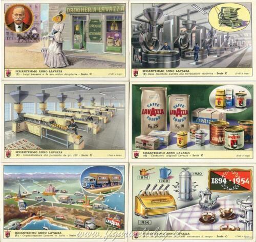 Figurine Lavazza serie n°100 Sessantesimo Anno Lavazza ANNO 1955 Chromo