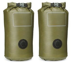 Lot-of-2-USMC-MILITARY-ISSUE-SEAL-LINE-MACS-SACK-WATERPROOF-DRY-BAG-WET-WEATHER