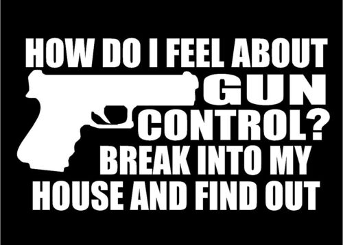 How Do I Feel About Gun Control Decal car truck window vinyl sticker graphic
