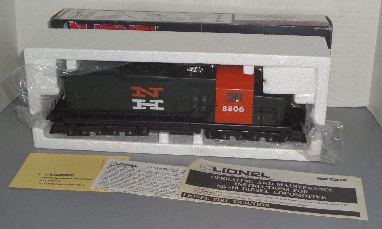 1987 Lionel O-calibre 6-18806 New Haven Locomotora Diesel SD-18 en Caja Original