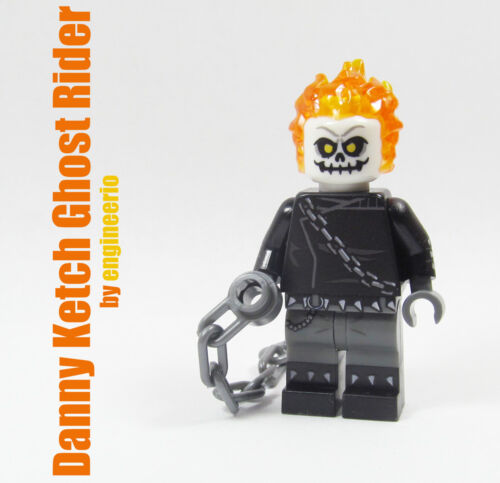 Comic Marvel Super heroes minifigures on lego Danny Ketch Ghost Rider Custom