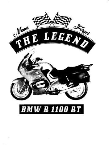 T-shirt YOUNGTIMER BMW R 1100 RT moto vélo Oldtimer