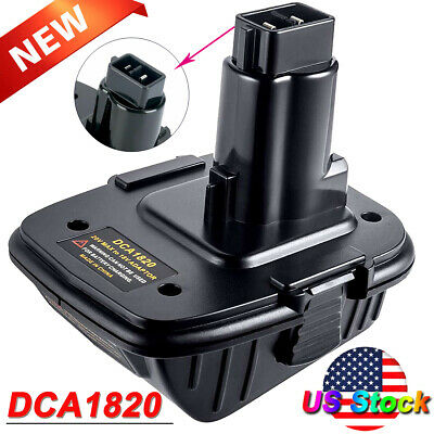 For DEWALT DCA1820 20V Battery Adapter Converter 20v//18V LITHIUM MAX XR battery