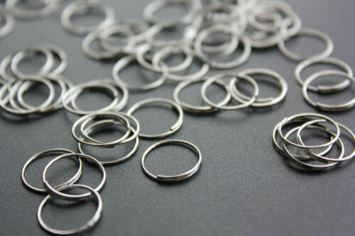 500PCS SILVER RINGS 11MM CHANDELIER LAMP PARTS CRYSTAL METAL OCTAGON CONNECTOR