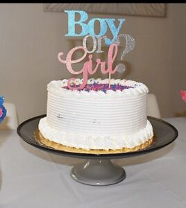 Image Is Loading Boy Or Girl Cake Topper Gender Reveal Party