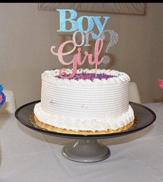 Mocsicka Elephant Gender Reveal Baby Shower Edible Cake Topper