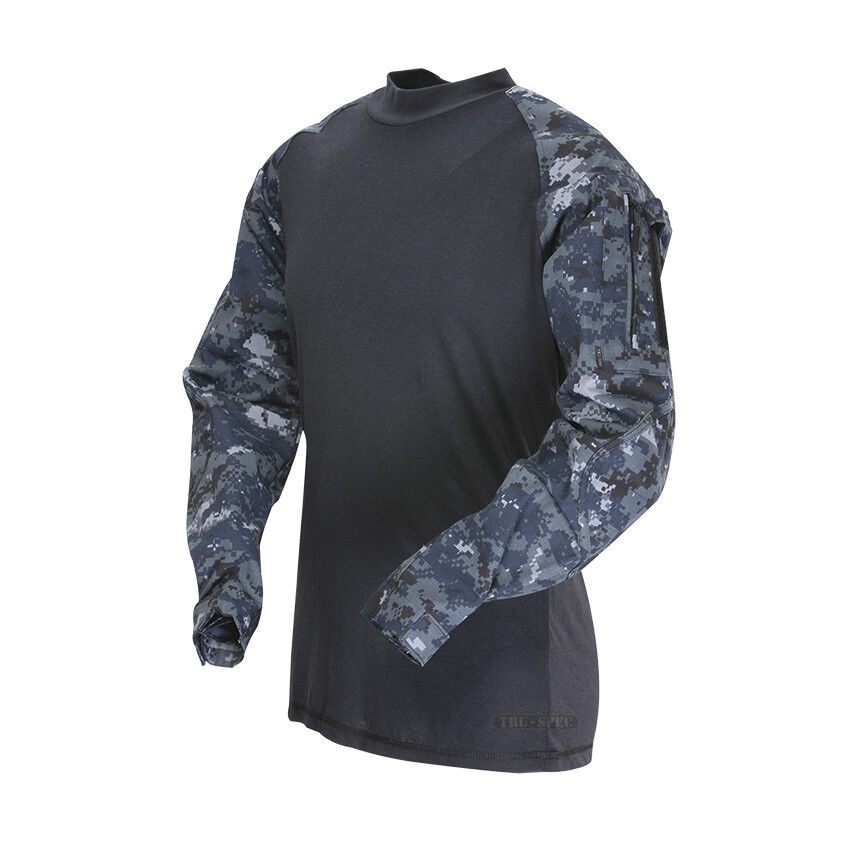 Tru-Spec TRU TRU Tru-Spec Combat Shirt 65/35 P/C RS MIDNIGHT DIGITAL c99e9e