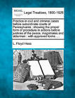 Practice in Civil and Criminal Cases Before Subordinate Courts of Pennsylvania: Showing the Proper Form of Procedure in Actions Before Justices of the Peace, Magistrates and Aldermen: With Approved Forms .... by L Floyd Hess (Paperback / softback, 2010)