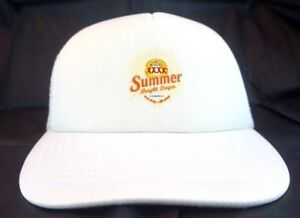 Summer-Bright-Lager-Beer-XXXX-Mesh-White-Baseball-Cap-Trucker-Hat-Accessories