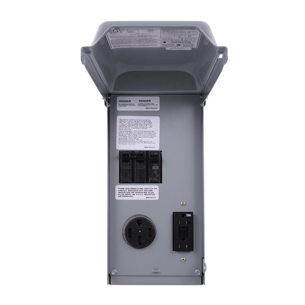 Ge Ge1lu502ss Rv Power Outlet Panels Outdoor Nema 3r 70 Amp Ebay About Siemens Murray Mp3030 30 Single Pole Circuit Breaker 2 Stock Photo