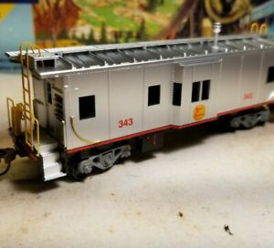 HO-Athearn-Kansas-City-Southern-caboose-car-for-train-set-New-RTR-KCS-7455