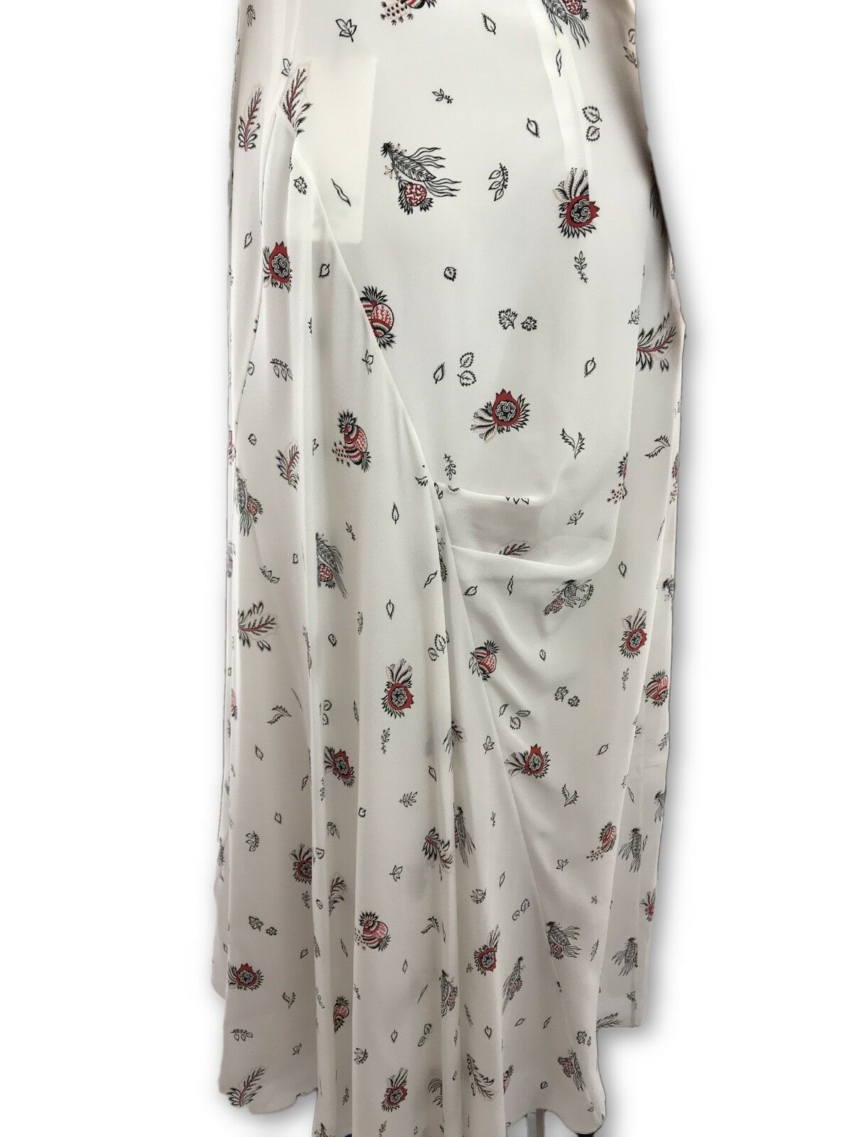 Creatures of the Wind Sz 4 Floral Print Silk Maxi Maxi Maxi Dress Short Sleeve MSRP  1895 e8b607