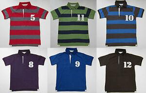 Boden-Garcons-nombre-POLO-RUGBY-HAUT-TEE-SHIRT-100-Coton-Ages-1-14-entierement-neuf-sans-etiquette