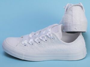 773dfd3bf71c Image is loading Lace-Converse-Sneakers-White-wedding-trainers-low-top-