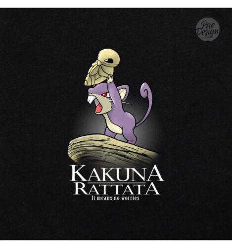 T-SHIRT DONNA KAKUNA RATTATA SERIE TV GEEK FUNNY TV SERIES FILM NM0048A PACDESIG
