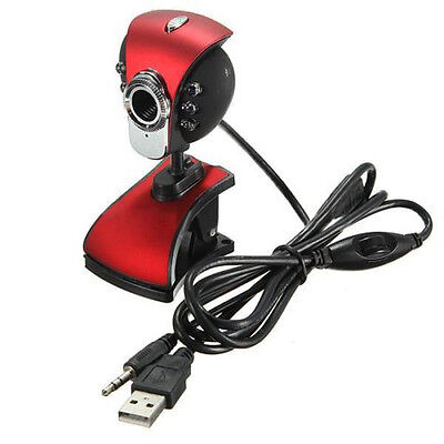 USB 50M 6 LEDs Night Vision Webcam Camera Web Cam With Mic for PC Laptop O6J5