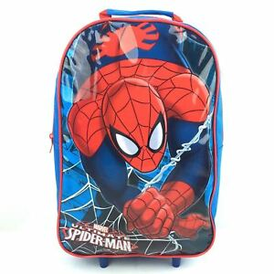 OFFICIAL-SPIDERMAN-SPIDERWEB-WHEELED-TROLLEY-CABIN-BAG-LUGGAGE-CHILDRENS