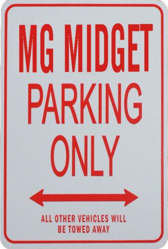 MINIATURE FUN PARKING SIGN MG MIDGET PARKING ONLY