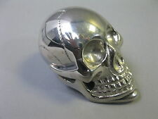 Metall Totenkopf versilbert  Briefbeschwerer Skull 7cm Paperwight Schaltknauf