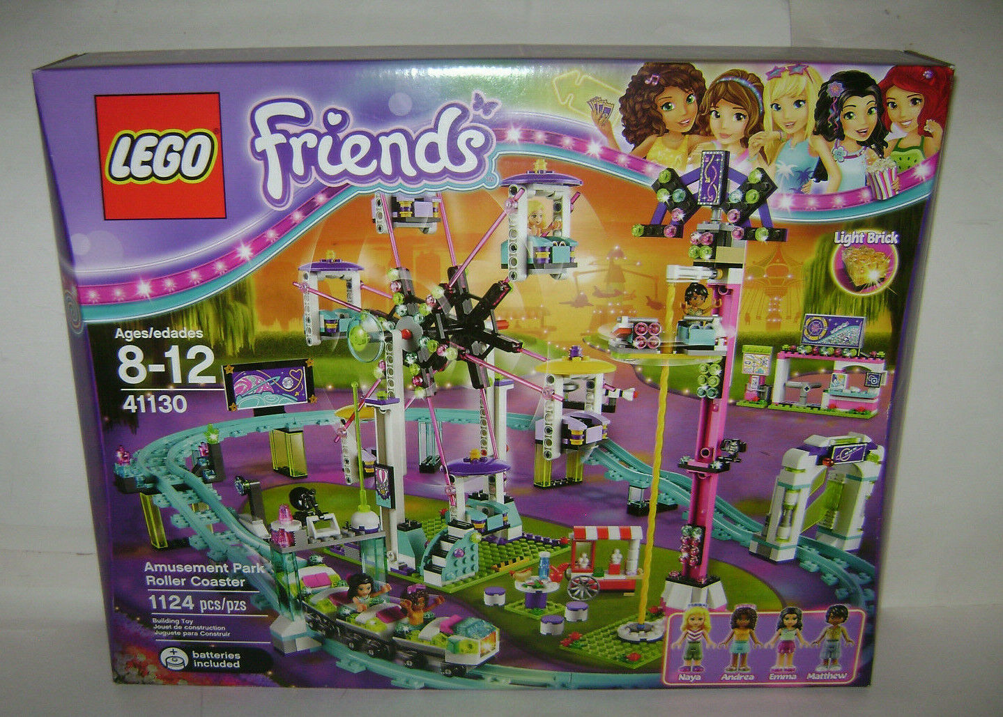 NEW 41130 Lego FRIENDS Amusement Park Roller Coaster Building Toy BOX RETIRED A