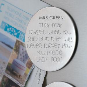 How You Make Them Feel Teacher Magnet Personalised Fridge Magnet Teacher Gift