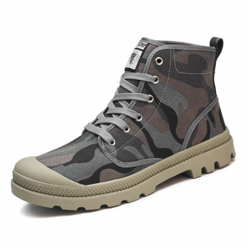 Men/'s Canvas High Top Shoes Sports Running Leisure Sneakers Breathable Casual