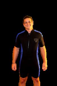 4X korty Wetsuit --Front Zip Off Style --mannen of hogere vrouwen --2100