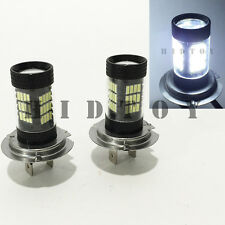 H7 Samsung LED 57-SMD Canbus Bright White 6000K Headlight 2x Bulb #Gd8 High Beam