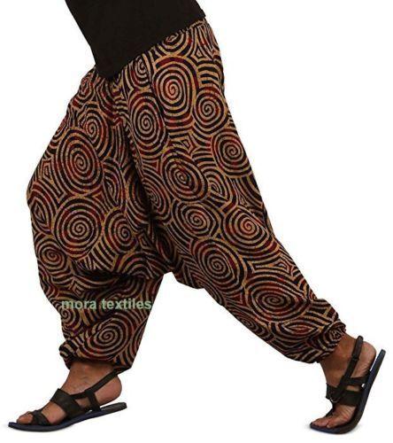 INDIAN BAGGY GYPSY HAREM PANTS YOGA MEN WOMEN XMAS GIFT SWIRL COTTON TROUSER ART