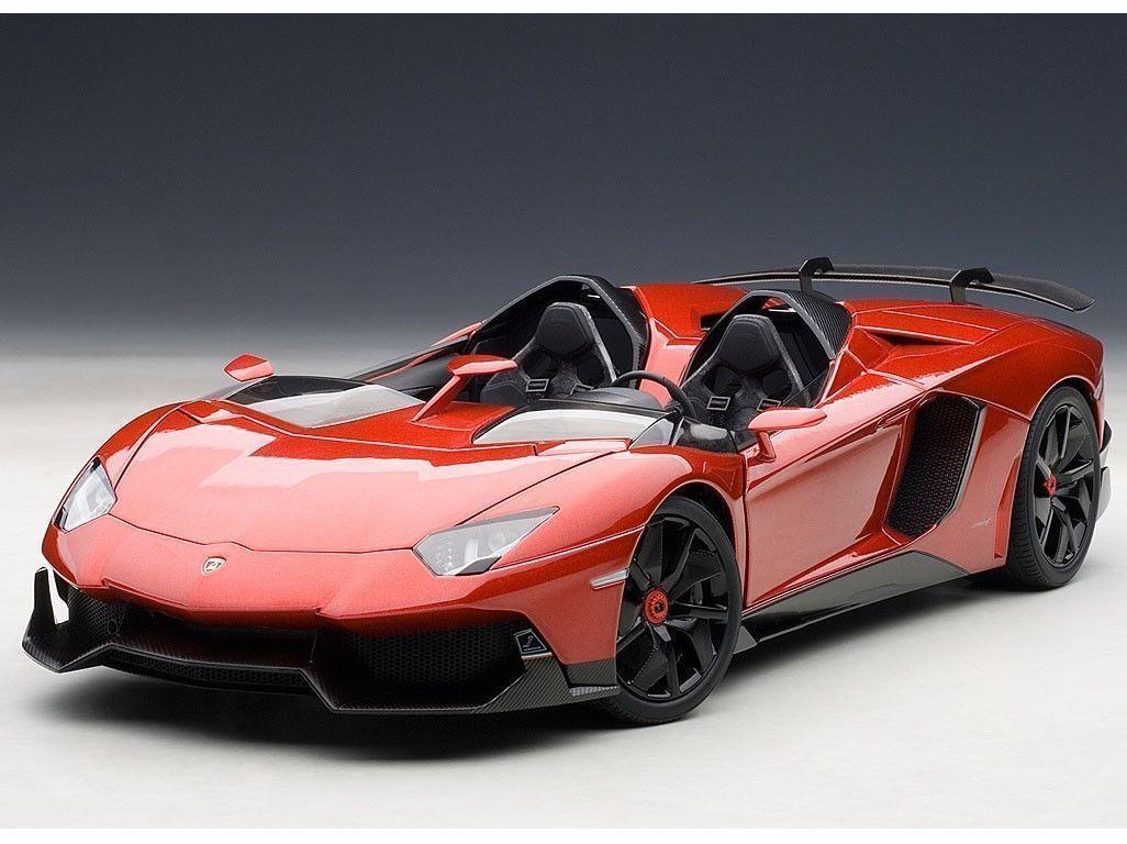 1:18 Autoart Lamborghini Aventador J (Rosso J / Metallic Red