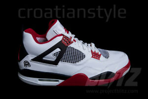 e9b1dde5cf2 2006 AIR JORDAN 4 RETRO MARS BLACKMON Size 8-10 WHITE VARSITY RED ...