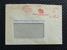 BUND BISON WISENT BRIEF ALTER FREISTEMPEL UR METALL DORTMUND 1959 RARE!! c4749